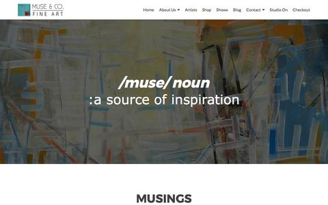 Screenshot of Home Page musecofineart.com - Muse & Co. Fine Art - captured June 18, 2017