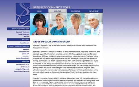 Screenshot of About Page specialtycommerce.com - Specialty Commerce Corp. - About Us - captured Jan. 16, 2016