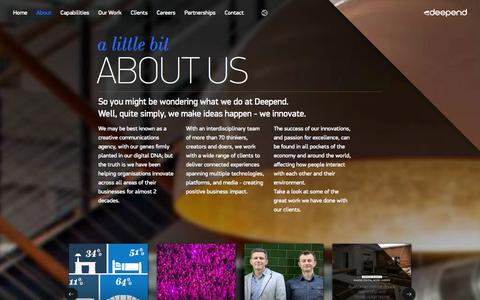 Screenshot of About Page deepend.com.au - About | Digital Agency - captured Sept. 19, 2014