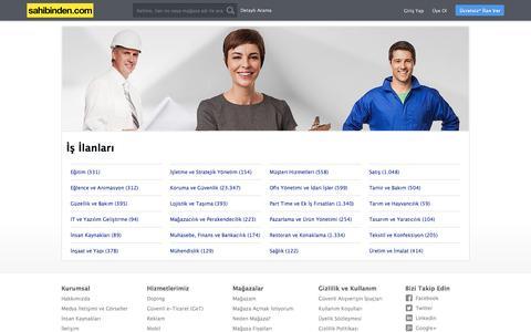 İş ilanları sahibinden.com'da