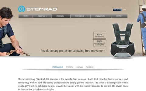Screenshot of Products Page stemrad.com - Professional | StemRad - captured Feb. 26, 2016