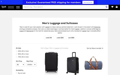 Luggage | Men's Luggage, Suitcases and Travel Bags | Lyst