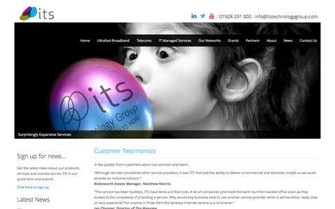 Screenshot of Testimonials Page itstechnologygroup.com - Testimonials - captured June 7, 2017