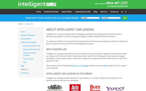 Screenshot of About Page intelligentcarleasing.com - About Intelligent Car Leasing - Intelligent Car Leasing - captured Sept. 19, 2014