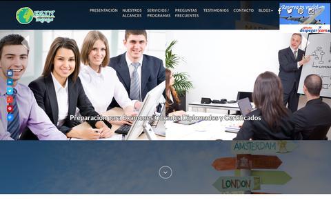 Screenshot of Home Page enjoylanguages.com.mx - Estudia en el extranjero Enjoy Languages - captured Nov. 10, 2018