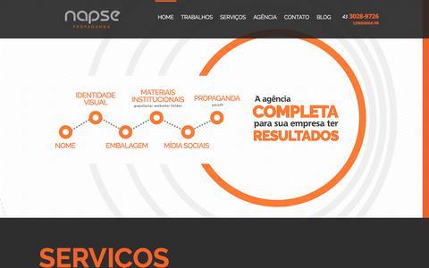 Screenshot of Home Page napse.com.br - Napse Identidade Visual, Design, Propaganda, Marca, Embalagem Londrina - captured Oct. 19, 2017