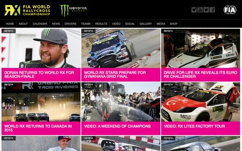 Screenshot of Press Page rallycrossrx.com - FIA World Rallycross Championship. - captured Nov. 2, 2014
