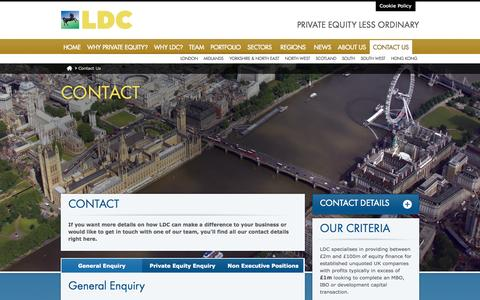Screenshot of Contact Page ldc.co.uk - Contact Us | LDC - captured Sept. 22, 2014