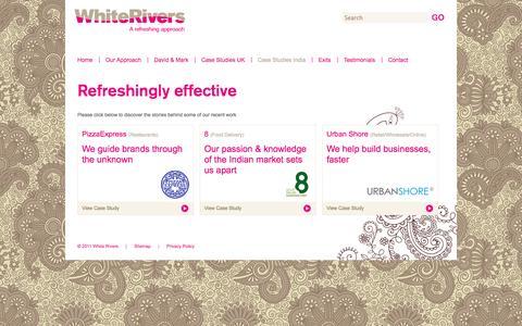 Screenshot of Case Studies Page whiterivers.net - Case Studies - Inda | White Rivers - captured Oct. 26, 2014