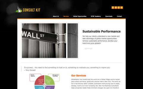 Screenshot of Services Page artparagon.com - Services - consult kit - captured Oct. 29, 2014