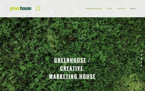 Screenshot of Home Page greenhouse.fi - Greenhouse - captured Feb. 2, 2016