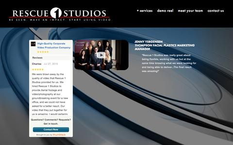 Screenshot of Testimonials Page rescue1studios.com - Testimonials — Rescue 1 Studios - captured Aug. 16, 2015