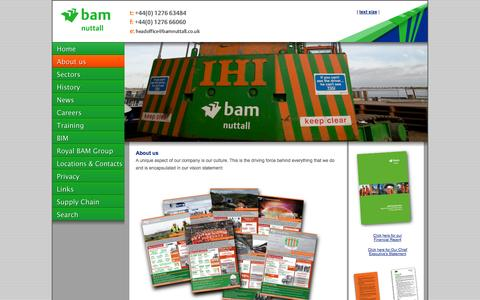 Screenshot of About Page bamnuttall.co.uk - BAM Nuttall - captured Oct. 3, 2014