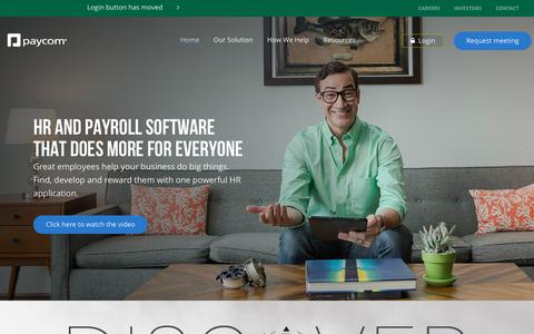 Online Payroll and HR Software | Paycom