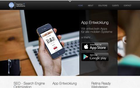 Screenshot of Contact Page bitsolutions.at - bits   IT solutions // Werbeagentur Graz // Webdesign - App Entwicklung... - captured Sept. 19, 2014