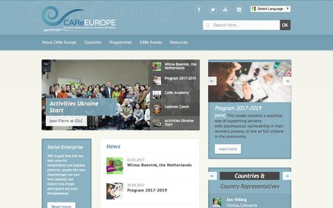 Screenshot of Home Page thecareeurope.com - CARe Europe - CARe Europe - captured July 7, 2017