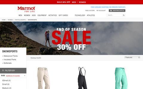 Snowsports / Pants & Shorts / Women   Marmot