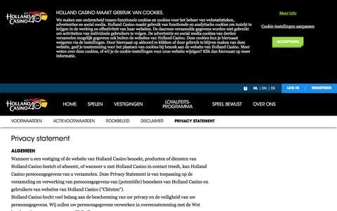 Privacy statement - Holland Casino