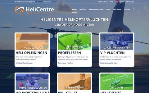 Screenshot of Home Page helicentre.eu - Het helikopterbedrijf voor uw helikoptervlucht tot opleiding - captured Dec. 9, 2015