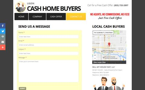 Screenshot of Contact Page sellmyhomefastfl.com - Sell My House Fast - Contact Us - Free Cash Offers - captured Jan. 22, 2017