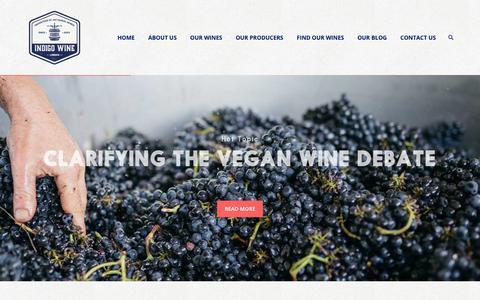 Screenshot of Home Page indigowine.com - Home - Indigo Wine | Importers of Artisanal Wines Indigo Wine | Importers of Artisanal Wines - captured Nov. 6, 2018