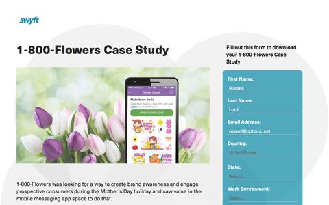 Screenshot of Landing Page monotype.com - 1-800-Flowers Case Study - captured July 15, 2016