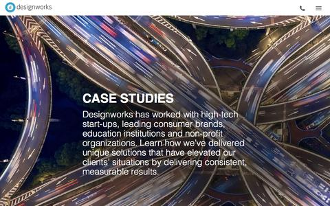 Screenshot of Case Studies Page design-works.com - Case Studies | Designworks - captured June 4, 2017