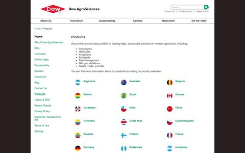 Screenshot of Products Page dowagro.com - Products   Dow AgroSciences - captured Nov. 24, 2016