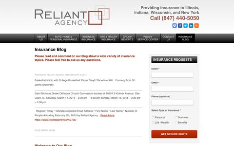 Screenshot of Blog reliantagency.com - Reliant Agency Blog - captured Nov. 7, 2017