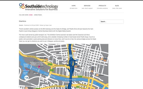 Screenshot of Maps & Directions Page southsidetechnology.com - Directions - captured Oct. 7, 2014