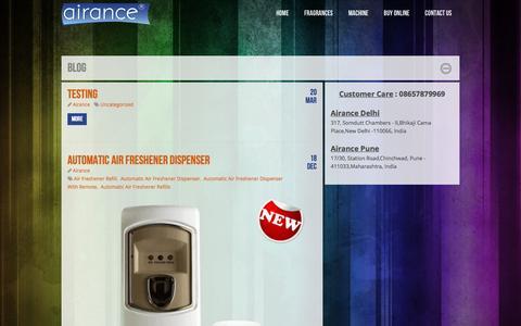 Screenshot of Blog airance.com - Blog - captured July 24, 2016