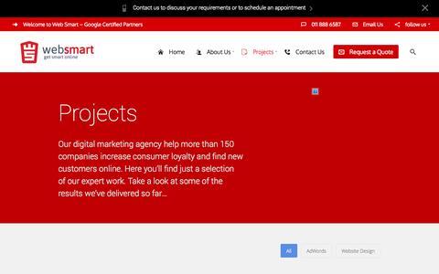 Screenshot of Case Studies Page web-smart.co.za - Case StudiesWeb Smart - captured Nov. 5, 2014