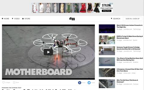 Screenshot of digg.com - Pushing Drones To Their Limit In A High-Tech Wind Vortex - Digg - captured May 11, 2016