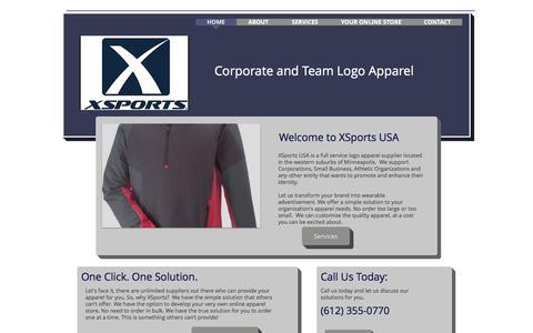 Screenshot of Home Page xsportsusa.com - XSports USA - captured Nov. 19, 2016