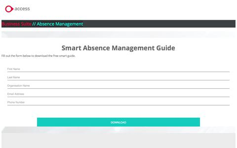 Screenshot of Landing Page theaccessgroup.com - Smart absence management guide | FREE GUIDE - captured June 24, 2017