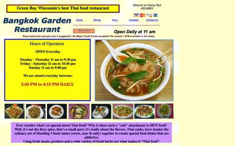 Screenshot of Hours Page greenbaythaifood.com - Hours - captured June 16, 2016