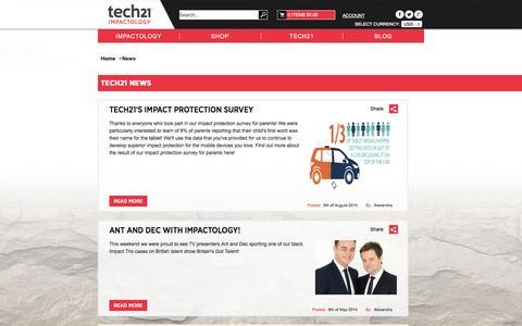Screenshot of Press Page tech21.com - Tech21 News - captured Sept. 19, 2014