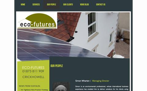 Screenshot of Team Page eco-futures.co.uk - Our People | Eco-FuturesEco-Futures - captured Sept. 29, 2014