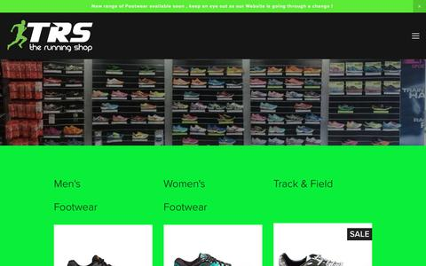 Screenshot of Home Page therunningshop.com.au - TRS - The Running Shop - captured June 15, 2017