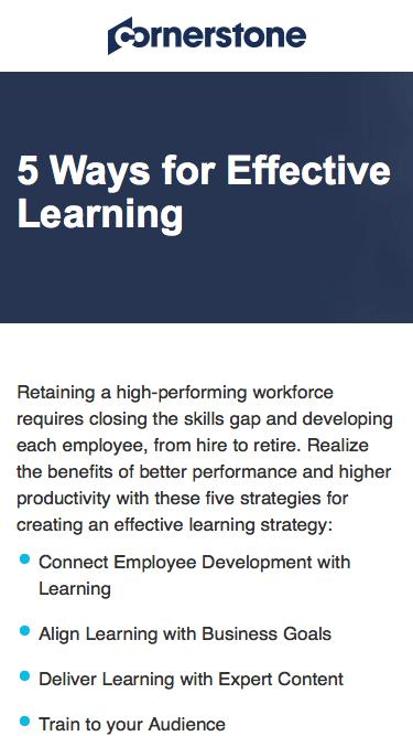 CSOD | 5 Ways for Effective Learning