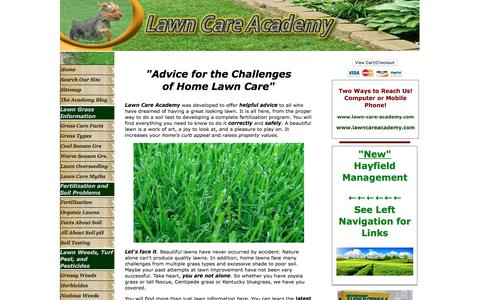 Screenshot of Home Page lawn-care-academy.com - Complete Lawn Care advice- Lawn Care Tips, Zoysia, Fescue, overseeding lawns, - captured Feb. 20, 2018