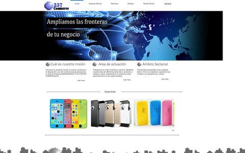 Screenshot of Home Page rbtcommerce.com - RBT Commerce - captured Oct. 7, 2014