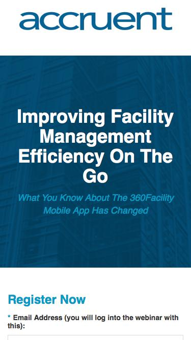Improving Facility Management Efficiency On The Go - Registration