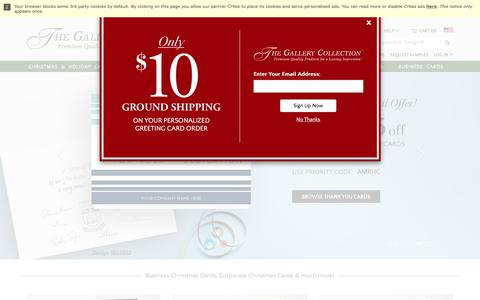 Screenshot of Home Page gallerycollection.com - Business Christmas Cards & Corporate Holiday Cards | The Gallery Collection - captured Oct. 26, 2017
