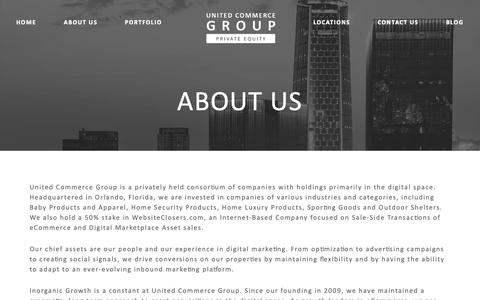 Screenshot of About Page unitedcommercegroup.com - About Us – United Commerce Group - captured Oct. 18, 2018