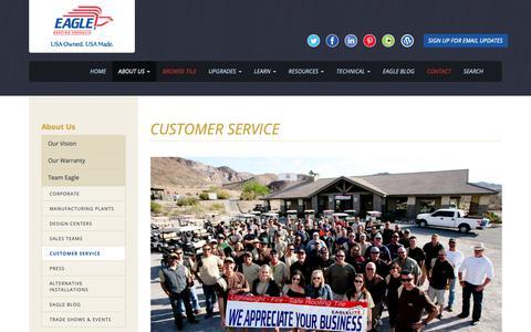 Screenshot of Support Page eagleroofing.com - Customer Service - Eagle Roofing - captured Sept. 26, 2018