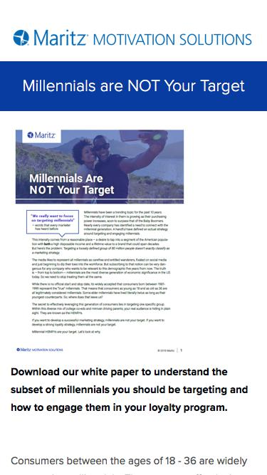 Millennials Are Not Your Target
