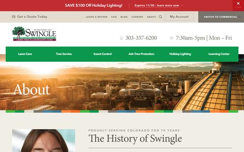 Screenshot of About Page myswingle.com - About - Swingle Landscape, Lawn Care & Tree Service - captured Oct. 24, 2017