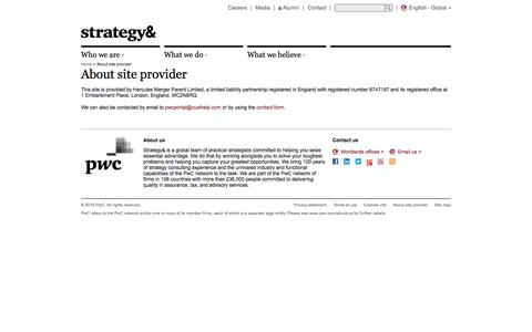 About site provider | PwC's Strategy&