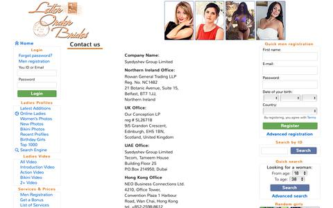 Screenshot of Contact Page letter-order-brides.com - Letter Order Brides :: Contact us - captured Oct. 24, 2018
